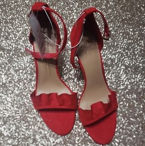 Ruffled Red Pumps